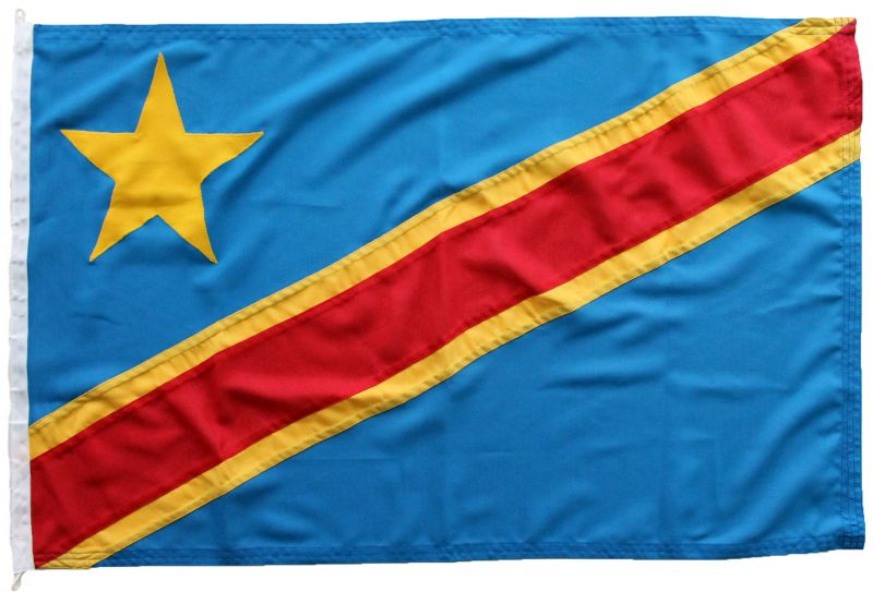 Buy sewn DRC Democratic Republic of Congo flag woven mod fabric stitched traditionaly uk marine outdoor pole image
