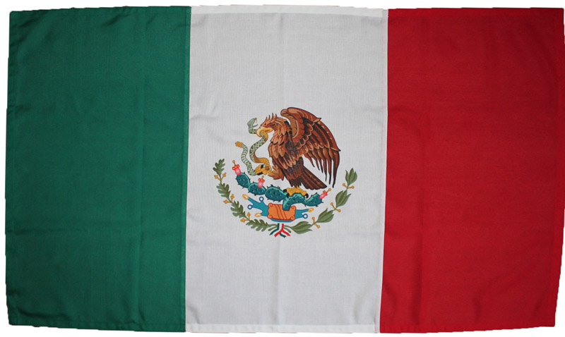 Mexico flag Mexican bandera cosida sewn MoD approved stitched traditionally badge printed woven polyester marine grade buy uk image