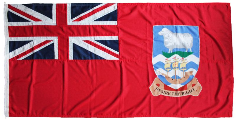 Falkland islands red ensign flag buy mod quality sewn rope toggled uk woven polyester traditional island bara green nordic white cross northern scotland hebrides marine grade