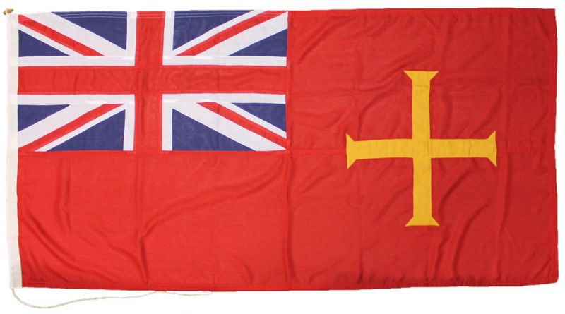 Guernsey channel islands ensign flag red sewn stitched uk british mod approved traditional spain badge buy image marine grade
