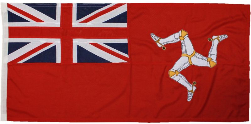 Isle of man defence approved ministry sewn ensign stitched flag marine grade naval photo image buy uk woven polyester triskelion embroidered union jack rope toggled