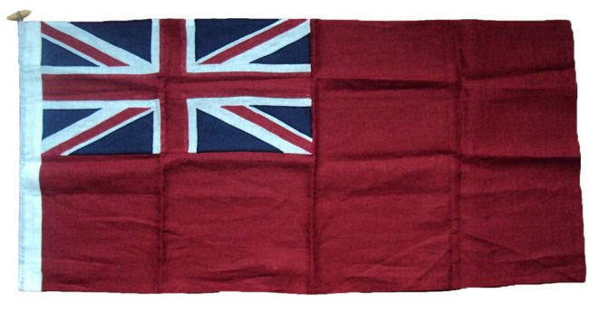0.75yd 27x13.5in 68x34cm Red Ensign