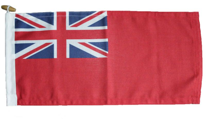 0.5yd 18x9in 46x23cm Red Ensign PRINTED (woven MoD fabric)
