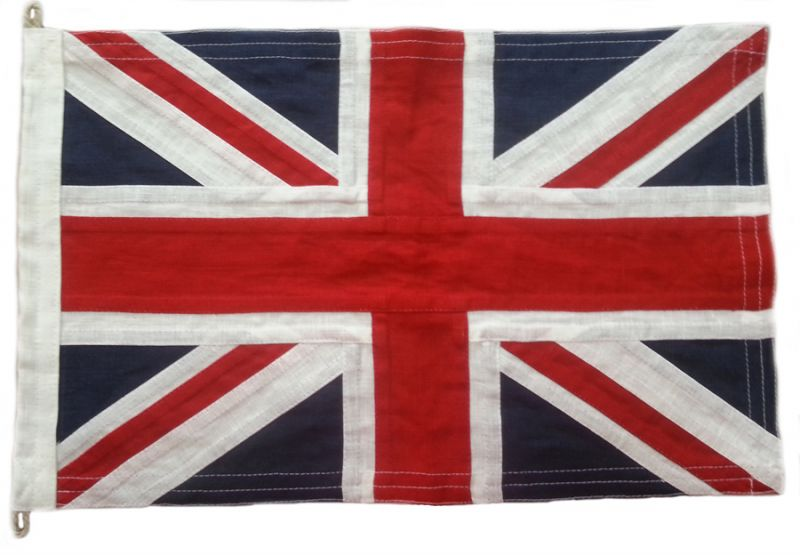 Union Jack sewn flag - British Flags - Union Jack (Linen Cloth ...