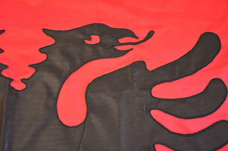 Sewn Albanian Eagle European Flags Albania Xft Xcm - Albania flag