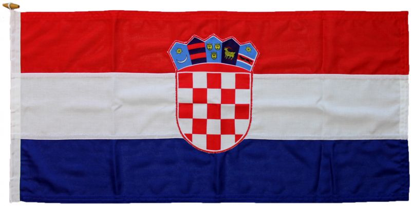 Buy sewn Croatian Croatia stitched marine flag UK supplier MoD approved woven fabric
