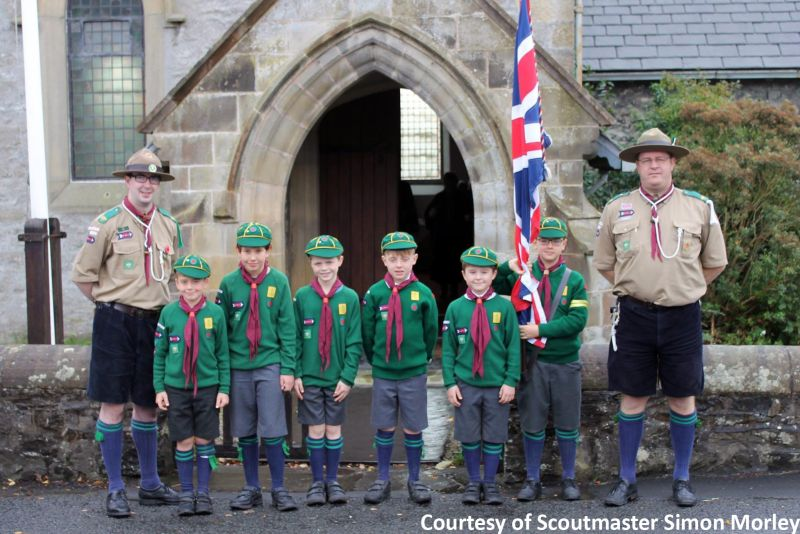 Scout flag scouts group Union Jack traditionally sewn hand carry held 5x3 feet stitched pole dowel buy uk