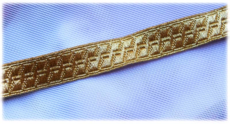Gold Mylar Lace 13mm