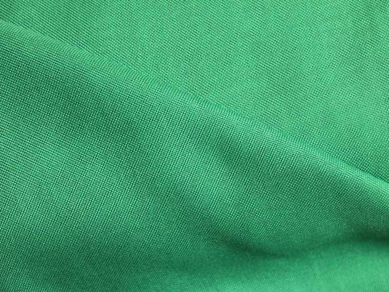 Emerald green woven polyester