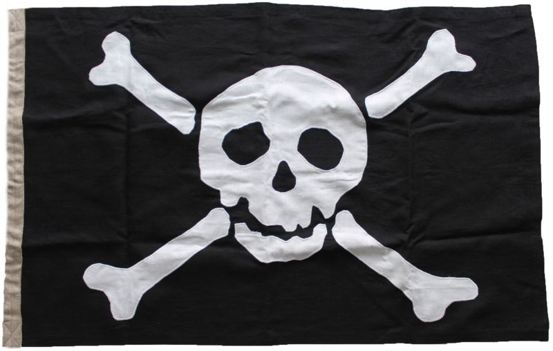 150x100cm Authentic Jolly Roger (linen cloth)