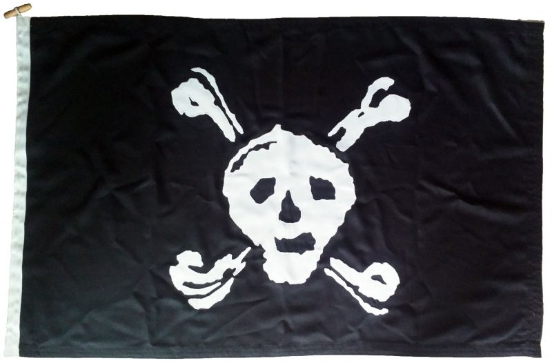 Jolly Roger pirate Stede bonnet mod approved authentic sewn flag photo cloth linen embroidered applique buy uk  image vintage old
