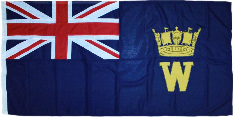 Old Worcesters Yacht Club Ensig traditionally sewn embroidered mod approved flag buy order uk manufacturer image .jpg