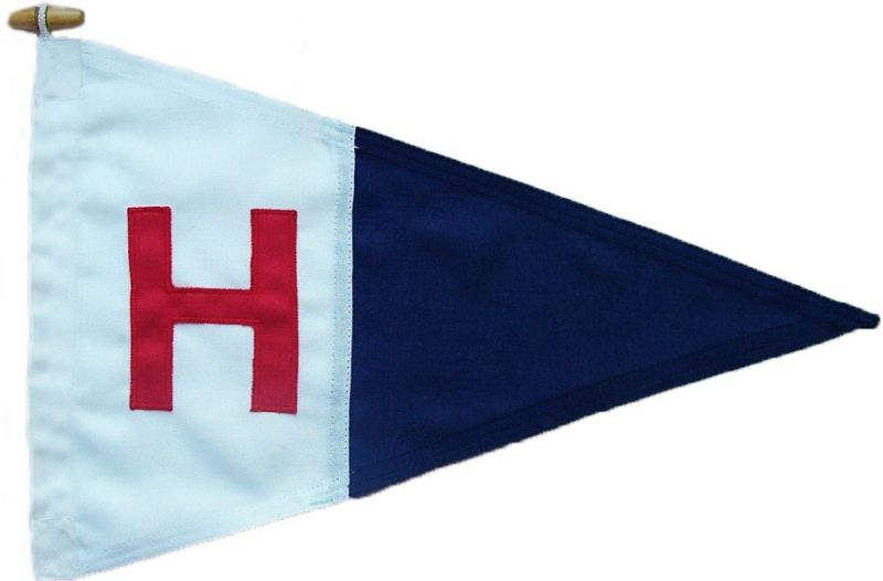 hamble river sailing club yacht burgee pennant sewn mod approved rope toggled buy uk image order jpg