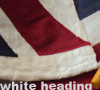white linen heading flag band cloth sewn