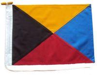 18x12in 45x30cm Zulu Z signal flag